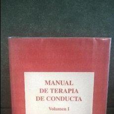 Libros de segunda mano: MANUAL DE TERAPIA DE CONDUCTA. VOLUMEN I. MIGUEL A. VALLEJO PAREJA. DYKINSON 1998.. Lote 116098187