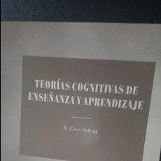 Libros de segunda mano: TEORIAS COGNITIVAS DE ENSEÑANZA Y APRENDIZAJE, B GROS SALVAT. Lote 117463811