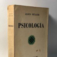 Libros de segunda mano: PSICOLOGÍA ALOYS MULLER •• ESPASA CALPE. Lote 117852891