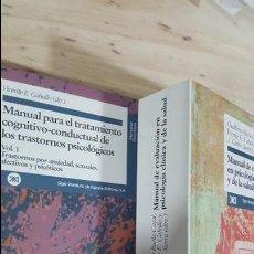 Libros de segunda mano: MANUAL PARA EL TRATAMIENTO COGNITIVO-CONDUCTUAL DE LOS TRASTORNOS PSICOLOGICOS. VICENTE E. CABALLO.. Lote 118131255