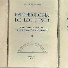 Libros de segunda mano: ESTUDIOS SOBRE DIFERENCIACIÓN PSICO-FÍSICA DE LOS SEXOS, 3 VOLS. JESÚS NOGUER MORÉ.. Lote 118435931