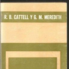 Libros de segunda mano: R.B. CATTELL Y G. M. MEREDITH. TEORIAS PSICOLOGICAS DE LA PERSONALIDAD. PAIDOS. Lote 118955871