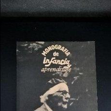 Libros de segunda mano: MONOGRAFIA DE INFANCIA Y APRENDIZAJE. PIAGET M-2. . Lote 119111663