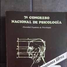 Libros de segunda mano: 7º CONGRESO NACIONAL DE PSICOLOGIA.SOCIEDAD ESPAÑOLA DE PSICOLOGIA.1982 UNIVERSIDAD SANTIAGO DE COMP. Lote 120099815