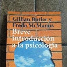 Libros de segunda mano: GILLIAM BUTLER Y FREDA MCMANUS.BREVE INTRODUCCION A LA PSICOLOGÍA. Lote 120103495
