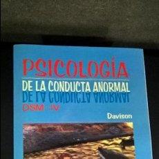 Libros de segunda mano: PSICOLOGIA DE LA CONDUCTA ANORMAL / ABNORMAL PSYCOLOGY. GERALD C. DAVISON. LIMUSA-NORIEGA 2000. . Lote 120510211