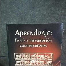 Libros de segunda mano: APRENDIZAJE: TEORIA E INVESTIGACION CONTEMPORANEAS. ROGER M. TARPY. MC GRAW HILL 2000.. Lote 120606991