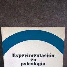 Libros de segunda mano: EXPERIMENTACION EN PSICOLOGIA: J. J. SHAUGHNESSY. Lote 120677667