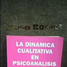 Libros de segunda mano: LA DINAMICA CUALITATIVA EN PSICOANALISIS. MICHELE PORTE. NUEVA VISION BUENOS AIRES ARGENTINA 1996. . Lote 120837927