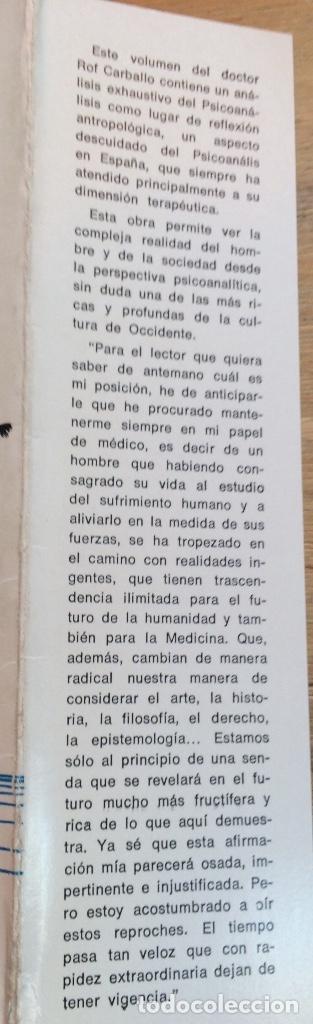 Libros de segunda mano: FRONTERAS VIVAS DEL PSICOANÁLISIS. JUAN ROF CARBALLO. - Foto 4 - 122770159