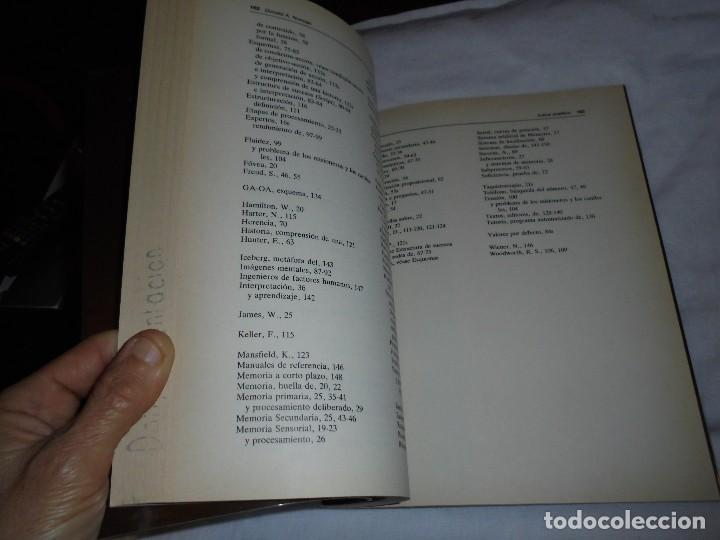 Libros de segunda mano: EL APRENDIZAJE Y LA MEMORIA.DONALD A.NORMAN.ALIANZA PSICOLOGIA.MADRID 1985 - Foto 4 - 124660287