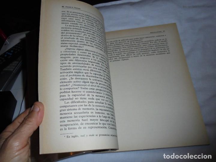 Libros de segunda mano: EL APRENDIZAJE Y LA MEMORIA.DONALD A.NORMAN.ALIANZA PSICOLOGIA.MADRID 1985 - Foto 6 - 124660287