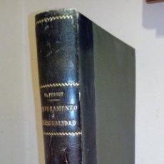 Libros de segunda mano: TEMPERAMENTO Y PERSONALIDAD. MAURICE PERIOT (ESTUDIO A PARTIR DE LA CLASIFICACIÓN HIPOCRÁTICA). Lote 124701159