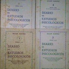 Libros de segunda mano: DIARIO DE ESTUDIOS PSICOLÓGICOS, POR ALLAN KARDEC (4 LIBROS).. Lote 125105183