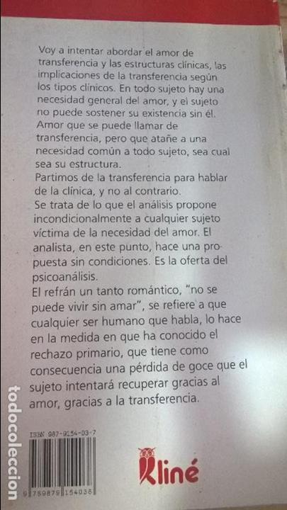 Libros de segunda mano: TRANSFERENCIA Y ESTRUCTURAS CLINICAS. GERARD POMMIER. EDICIONES KLINE 1999. VER FOTO PARA INFORMACIO - Foto 3 - 126236779