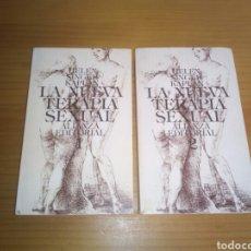 Libros de segunda mano: LA NUEVA TERAPIA SEXUAL , TOMO 1 Y 2 , DE HELEN SINGER KAPLAN, EDITORIAL ALIANZA. Lote 126711974