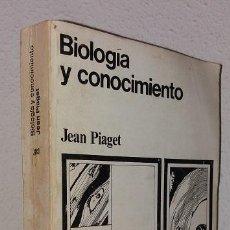 Libros de segunda mano: PIAGET. JEAN: BIOLOGÍA Y CONOCIMIENTO (SIGLO XXI) (LB). Lote 128163743
