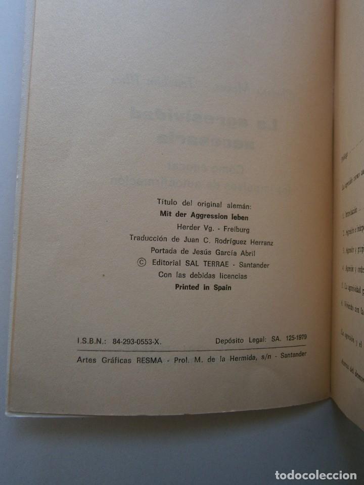 Libros de segunda mano: LA AGRESIVIDAD NECESARIA Christa Meves Joachim Illies - Foto 9 - 128393547