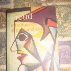 Libros de segunda mano: SIGMUND FREUD INTRODUCION AL PSICOANALISIS (ALIANZA EDITORIAL-1967-2000) EXCELENTE ESTADO. Lote 131064636