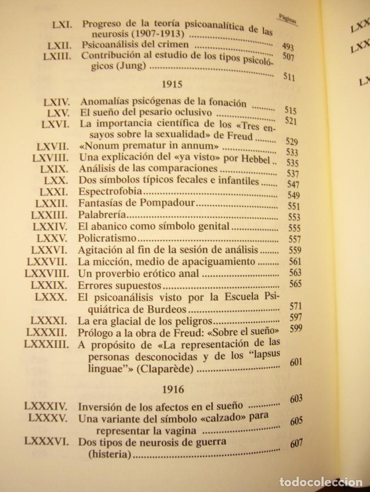 Libros de segunda mano: SÁNDOR FERENCZI: OBRAS COMPLETAS, I (RBA, BIBLIOTECA DE PSICOANÁLISIS, 2006) EXCELENTE ESTADO - Foto 7 - 131508322