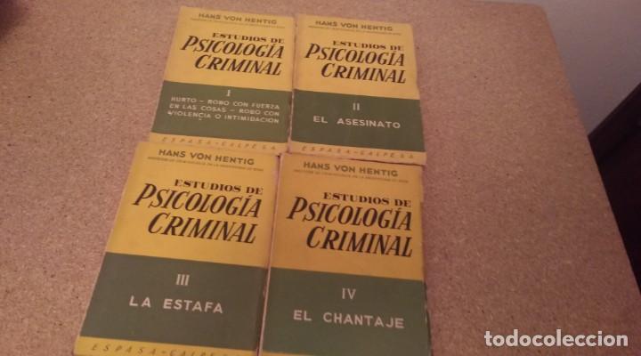 HANS VON HENTIG , ESTUDIOS DE PSOCOLOGIA CRIMINAL 4 TOMOS (Libros de Segunda Mano - Pensamiento - Psicología)