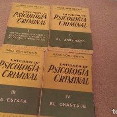 Libros de segunda mano - Hans von hentig , estudios de psocologia criminal 4 tomos - 132044146