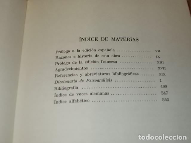Libros de segunda mano: DICCIONARIO DE PSICOANÁLISIS. J. LAPLANCHE - J.B. PONTALIS. EDITORIAL LABOR. SEGUNDA EDICIÓN 1974. - Foto 3 - 132123778