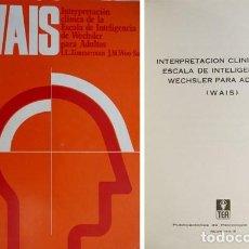 Libros de segunda mano: ZIMMERMAN. INTERPRETACIÓN CLÍNICA DE LA ESCALA DE INTELIGENCIA DE WECHSLER PARA ADULTOS (WAIS). 1981. Lote 136665072