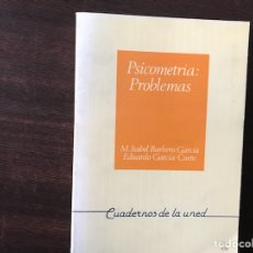 Libros de segunda mano: PSICOMETRÍA: PROBLEMAS. M. ISABEL BARBERO. Lote 135566025