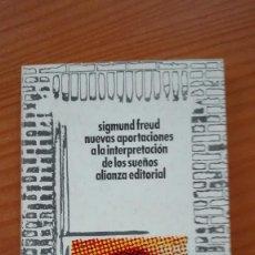 Libros de segunda mano: NUEVAS APORTACIONES A LA INTERPRETACIÓN DE LOS SUEÑOS SIGMUND FREUD ALIANZA EDITORIAL 1942. Lote 135684043