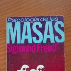 Libros de segunda mano: PSICOLOGÍA DE LAS MASAS SIGMUND FREUD ALIANZA EDITORIAL 1969. Lote 135684571