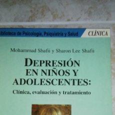 Libros de segunda mano: DEPRESIÓN EN NIÑOS Y ADOLESCENTES-MOHAMMAD SHAFFI Y SHARON LEE SHAFFI. Lote 135841358