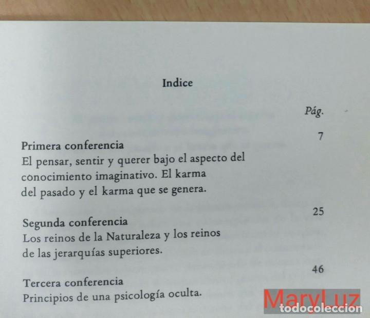 Libros de segunda mano: PSICOLOGÍA OCULTA -Rudolf Steiner- 3 conferencias pronunciadas en Dornach (Suiza) 1921. Antroposofía - Foto 2 - 136726358