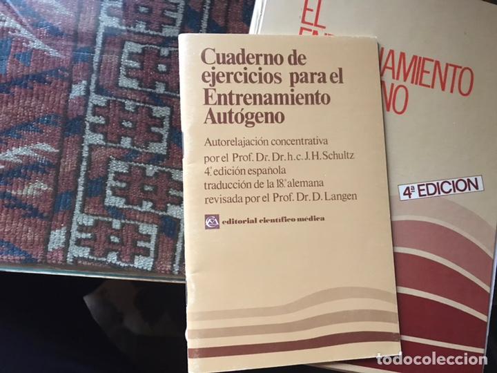 Libros de segunda mano: El entrenamiento autógeno. J. H. Schultz. Autor relajación concentración. Con cuaderno - Foto 2 - 180250297