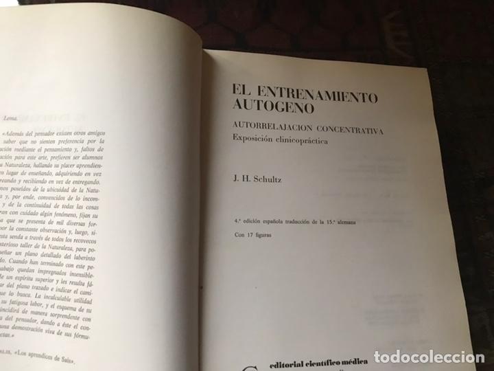 Libros de segunda mano: El entrenamiento autógeno. J. H. Schultz. Autor relajación concentración. Con cuaderno - Foto 3 - 180250297