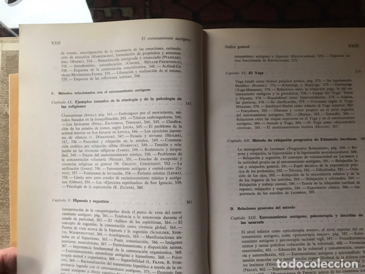 Libros de segunda mano: El entrenamiento autógeno. J. H. Schultz. Autor relajación concentración. Con cuaderno - Foto 8 - 180250297