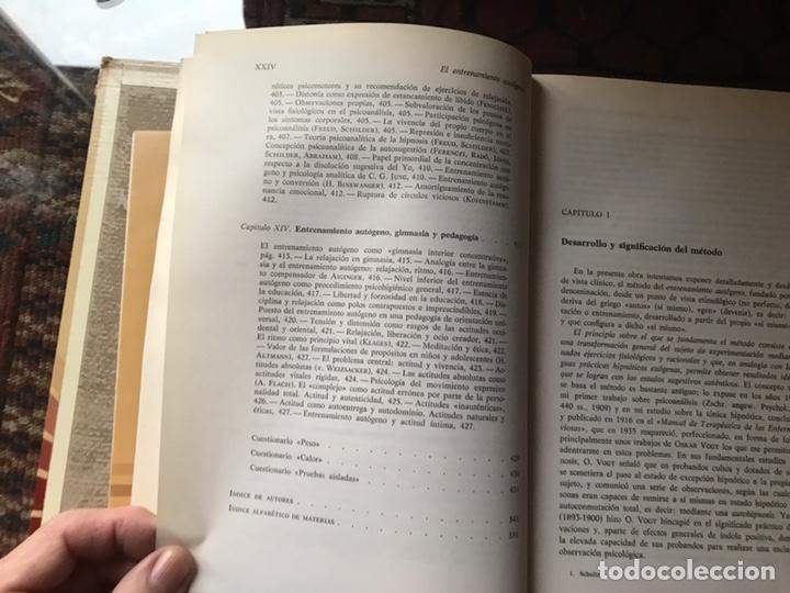 Libros de segunda mano: El entrenamiento autógeno. J. H. Schultz. Autor relajación concentración. Con cuaderno - Foto 9 - 180250297