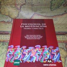 Libros de segunda mano: PSICOLOGÍA DE LA MOTIVACIÓN. TEORÍA Y PRÁCTICA. CD INCLUIDO EN GUARDA. VVAA. UNED. SANZ TORRES 2013.. Lote 137394738
