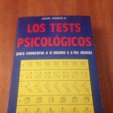 Libros de segunda mano: LOS TESTS PSICOLÓGICOS. Lote 138065386