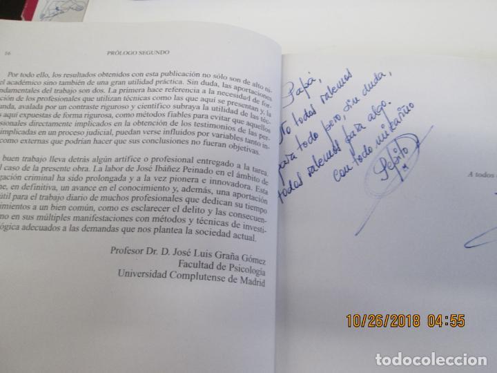 Libros de segunda mano: PSICOLOGÍA E INVESTIGACIÓN CRIMINAL: EL TESTIMONIO - JOSÉ IBAÑEZ PEINADO - ED. DYKINSON 2009 - Foto 2 - 139355258
