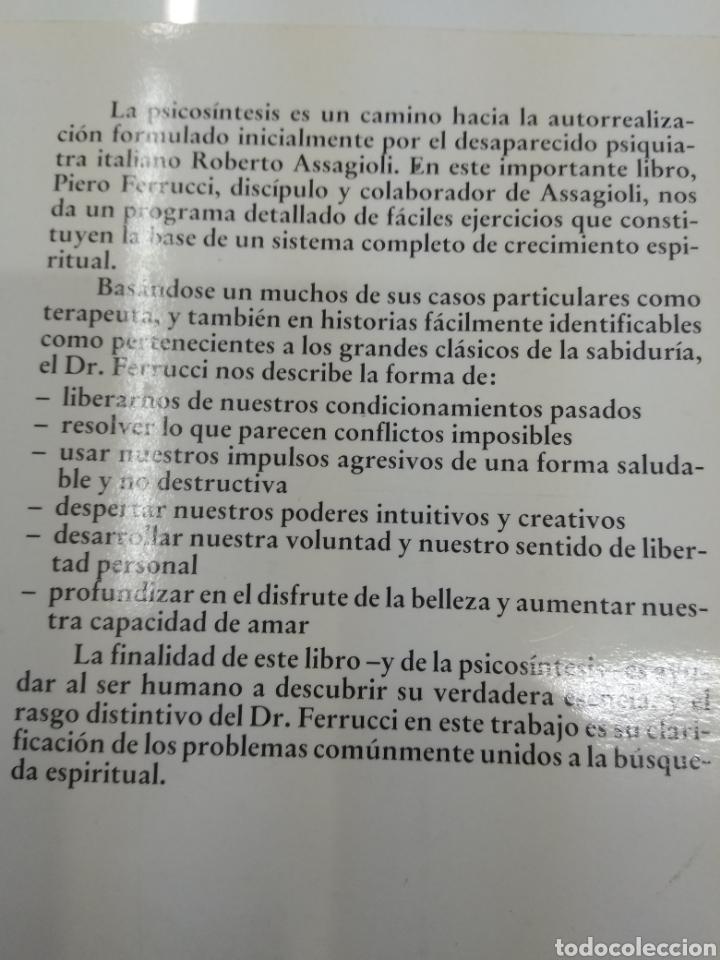 Libros de segunda mano: PSICOSINTESIS DR. PIERO FERRUCCI SIRIO EDITORIAL CRECIMIENTO ESPIRITUAL - Foto 6 - 139568229