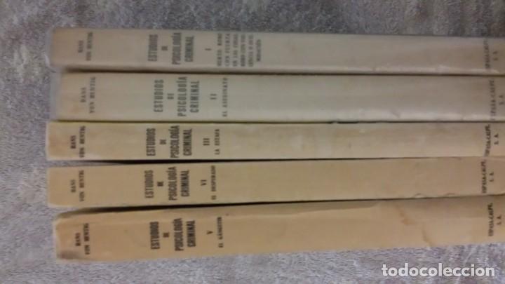 ESTUDIOS DE PSICOLOGÍA CRIMINAL, VOLÚMENES I, II, III, IV, V. HANS VON HENTIG.EDITORIAL ESPASA-CALPE (Libros de Segunda Mano - Pensamiento - Psicología)
