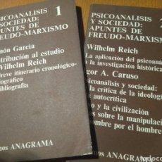 Libros de segunda mano: PSICOANÁLISIS Y SOCIEDAD: APUNTES DE FREUDO-MARXISMO- CUADERNOS ANAGRAMA, 1971. Lote 140626109