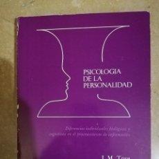 Libros de segunda mano: PSICOLOGIA DE LA PERSONALIDAD (J. M. TOUS) PPU. Lote 141263710