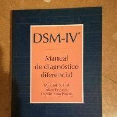 Libros de segunda mano: DSM - IV MANUAL DE DIAGNOSTICO DIFERENCIAL (VV. AA.) MASSON. Lote 179325390