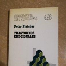 Libros de segunda mano: TRASTORNOS EMOCIONALES (PETER FLETCHER) HERDER. Lote 141501566