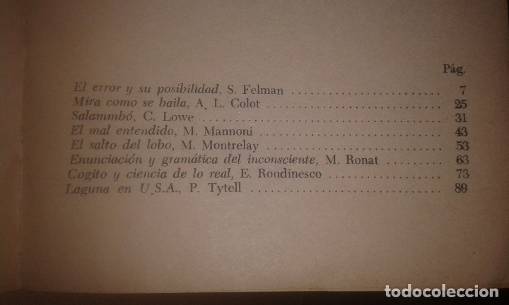 Libros de segunda mano: ELIZABETH ROUDINESCO Y OTROS - LOS PSICOANALISTAS ESCRIBEN SOBRE LACAN [JACQUES LACAN] - Foto 2 - 45072907