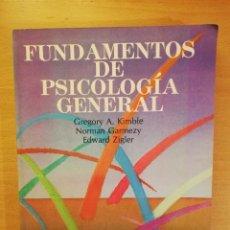 Libros de segunda mano: FUNDAMENTOS DE PSICOLOGIA GENERAL (KIMBLE / GARMEZY / ZIGLER). Lote 141971946