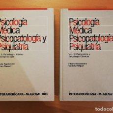 Libros de segunda mano: PSICOLOGIA MEDICA, PSICOPATOLOGIA Y PSIQUIATRIA (F. FUENTENEBRO / C. VAZQUEZ) VOL I + VOL II. Lote 141972146