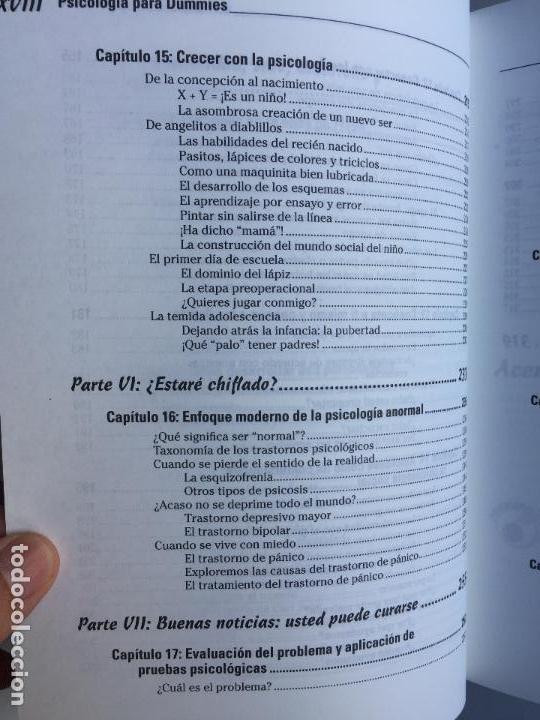 Libros de segunda mano: PSICOLOGÍA PARA DUMMIES - ADAM CASH - Foto 9 - 142416706